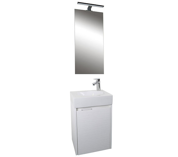 Croydex Beaulieu White Vanity Unit And Mirror Set