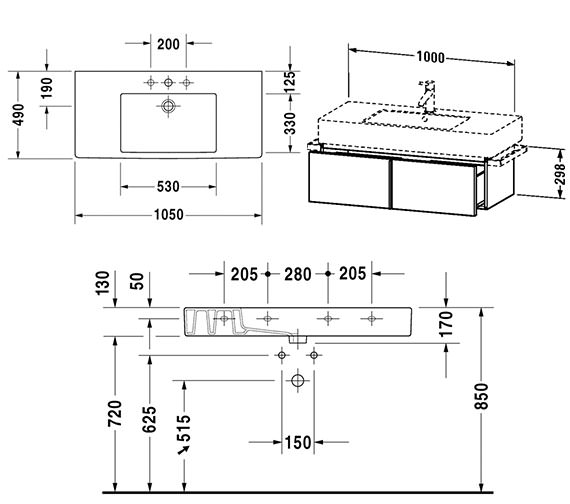 Technical drawing QS-V4322 / VE611401818