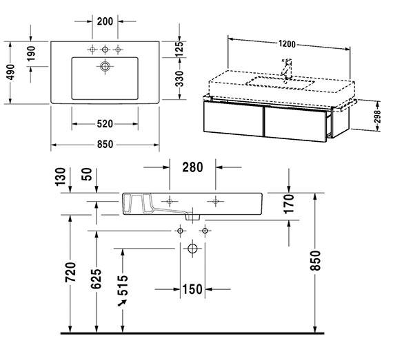 Technical drawing QS-V4321 / VE611301818