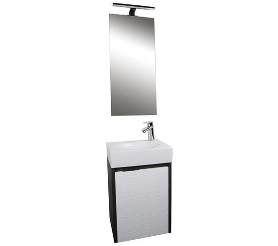 Croydex Beaulieu Light Oak Vanity Unit And Mirror Set