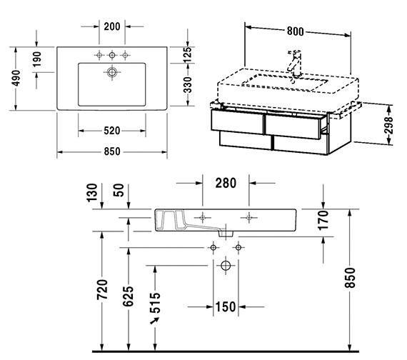 Technical drawing QS-V4324 / VE621301818