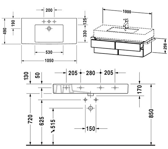 Technical drawing QS-V4325 / VE621401818