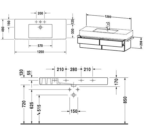 Technical drawing QS-V4326 / VE621501818