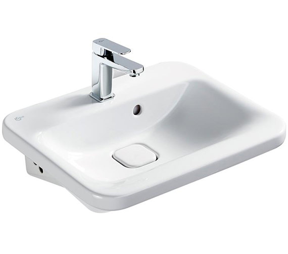 Ideal Standard Tonic II 550mm 1 Taphole Semi-Countertop Washbasin