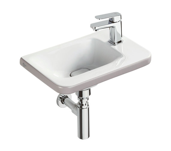Ideal Standard Tonic II 450mm 1TH RH Asymmetric Guest Basin Matt Brown Edge