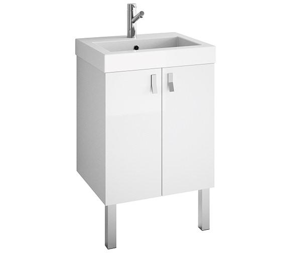 Croydex Danby White Basin Vanity Unit