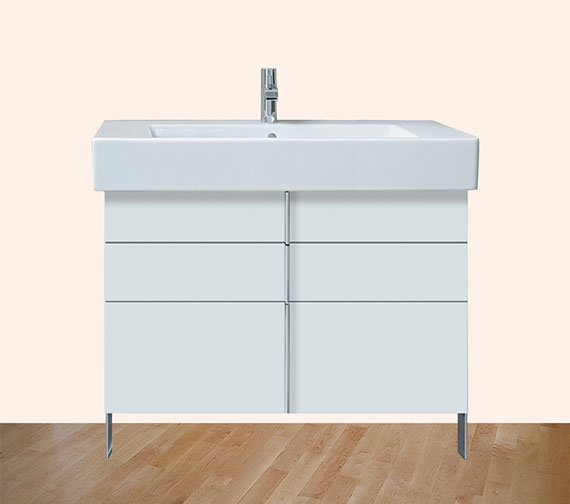 Duravit Vero Air 446mm Depth Floor Standing 2 Drawers Vanity Unit And Basin