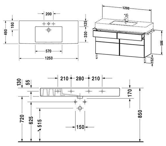 Technical drawing QS-V4329 / VE641501818