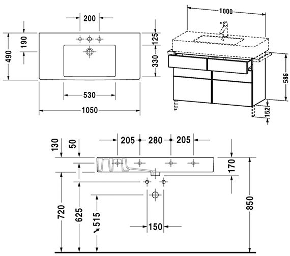 Technical drawing QS-V4328 / VE641401818