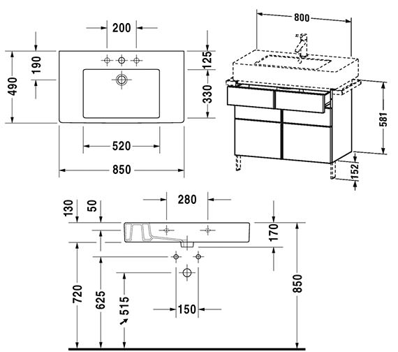 Technical drawing QS-V4327 / VE641301818