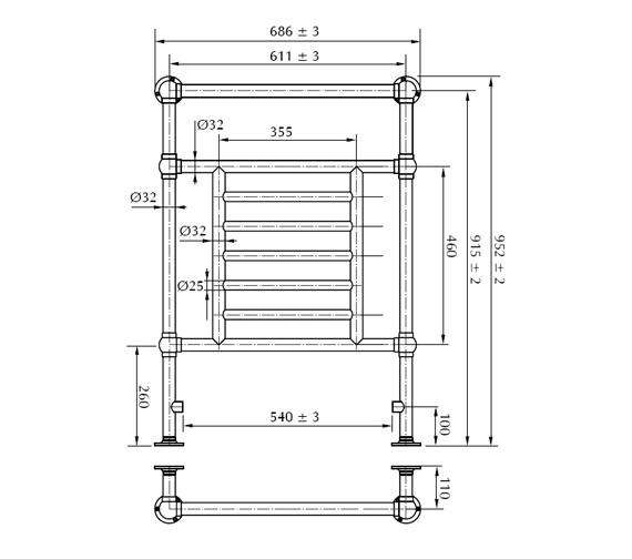 Technical drawing QS-V40743 / RAD0140100