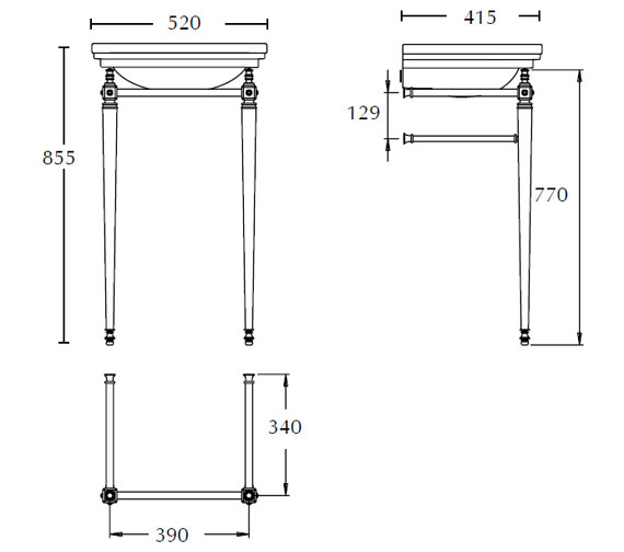 Technical drawing QS-V73474 / ZXBS2400100
