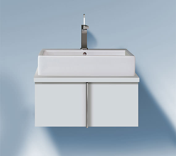 Duravit Vero 800 x 518mm Pull Out Compartment Vanity Unit For Console