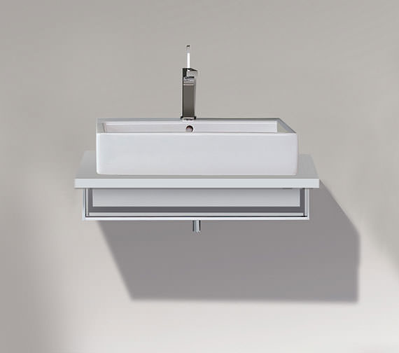 Duravit Vero 800 x 518mm Open Compartment Unit With Towel Rail For Console