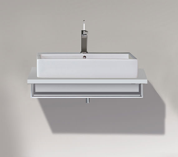 Duravit Vero 1000 x 518mm Open Compartment Unit With Towel Rail For Console