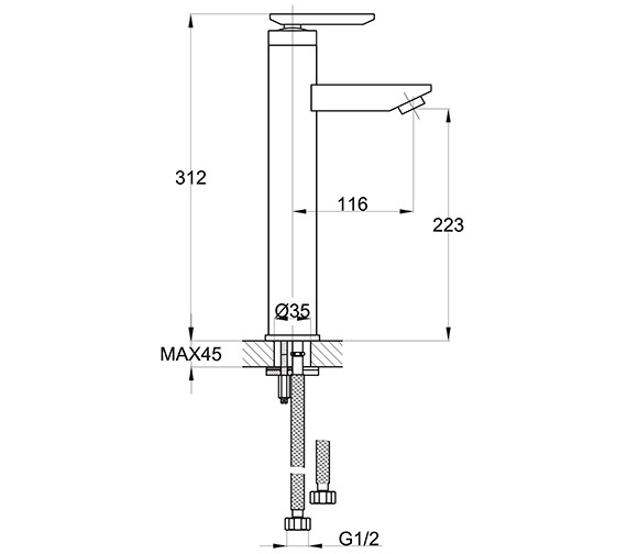 Technical drawing QS-V32800 / EC/209/C