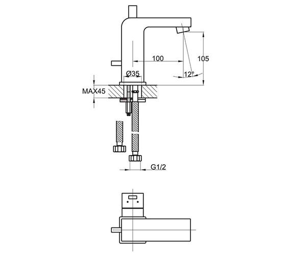 Technical drawing QS-V78744 / EV/206/C
