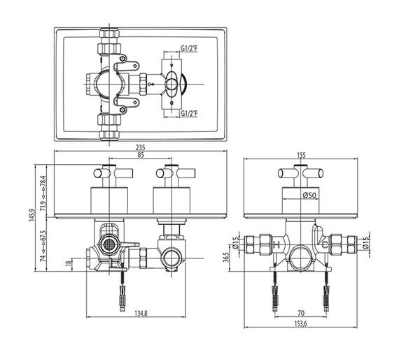 Technical drawing QS-V30415 / EV/177/C