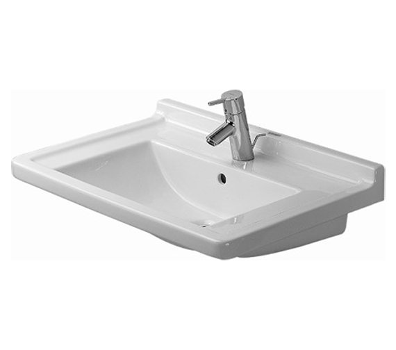 Duravit Starck 3 700mm 1 Taphole Furniture Washbasin - 0304700000