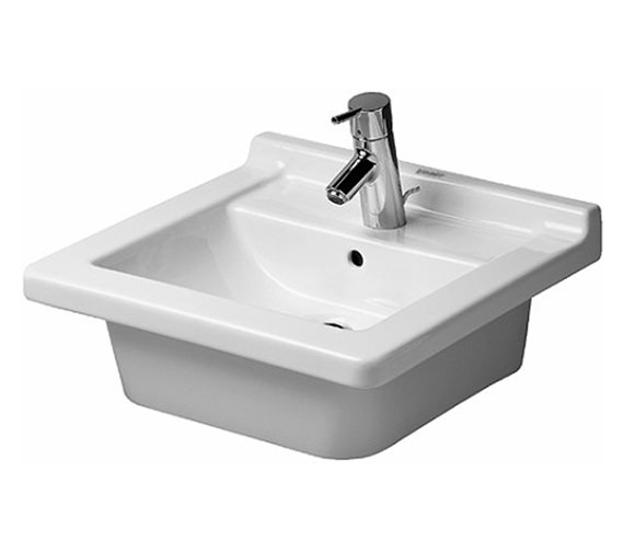 Duravit Starck 3 480mm 1 Taphole Furniture Washbasin - 0303480000