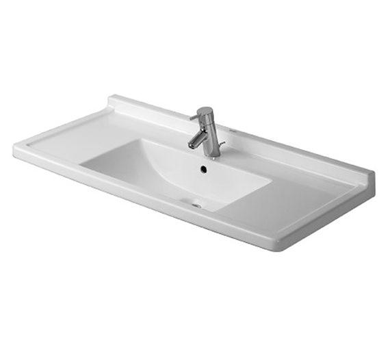 Duravit Starck 3 1050mm 1 Taphole Furniture Washbasin - 0304100000