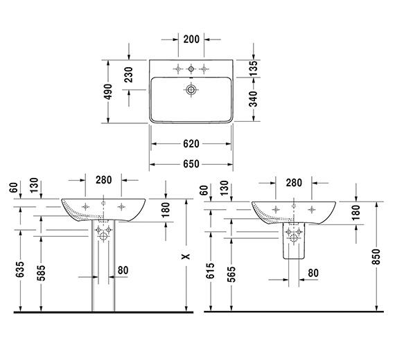 Technical drawing QS-V6352 / 2335650000