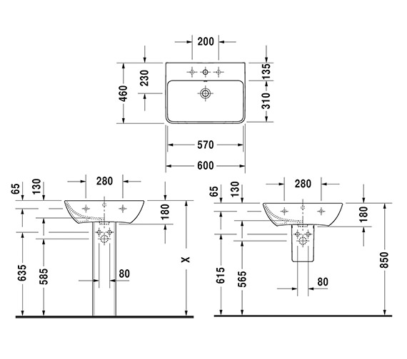 Technical drawing QS-V6353 / 2335600000