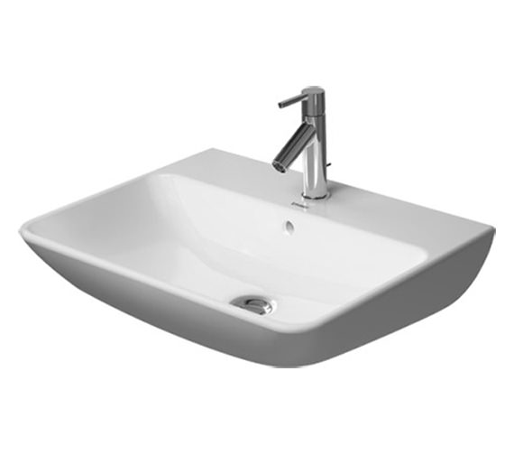 Duravit ME By Starck 550mm 1 Taphole Washbasin - 600mm And 650mm Available