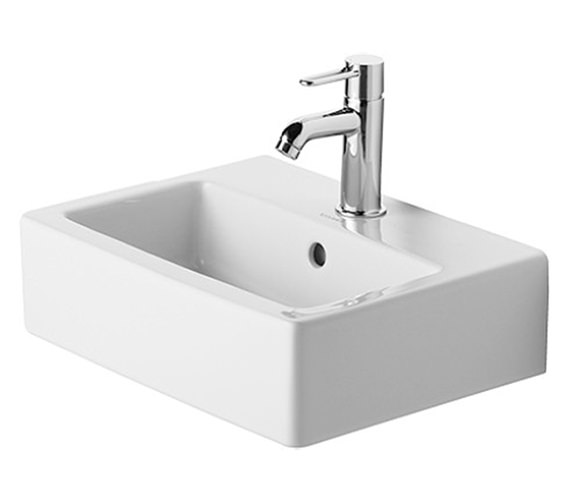 Duravit Vero White 450 x 350mm 1 Tap Hole Handrinse Furniture Basin