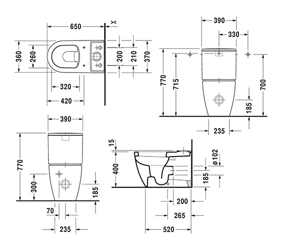 Technical drawing QS-V6367 / 2170090000