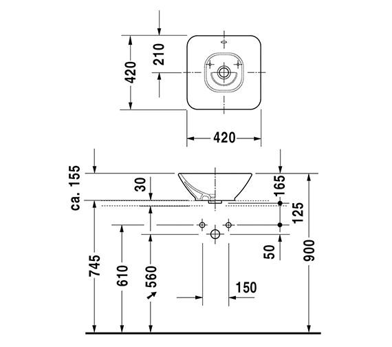Technical drawing QS-V6357 / 0333420000