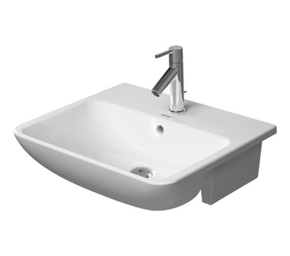 Duravit ME By Starck 1 Taphole Semi Recessed Washbasin - 0378550000