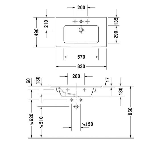 Technical drawing QS-V6360 / 2336830000