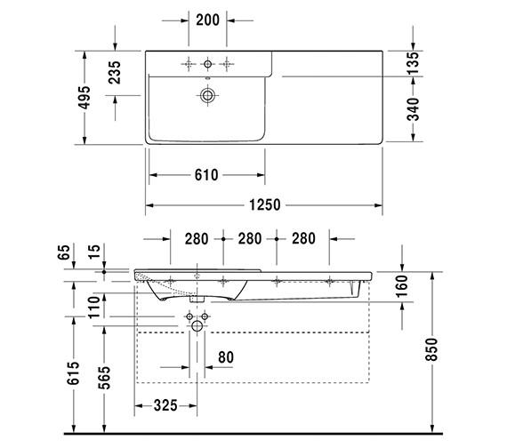 Technical drawing QS-V6380 / 2333120000