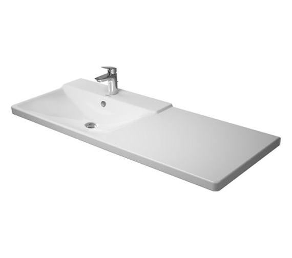 Duravit P3 Comforts 1250mm Bowl On Left Asymmetric Basin - 233312