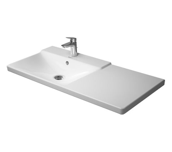 Duravit P3 Comforts 1050mm Bowl On Left Asymmetric Basin - 233310