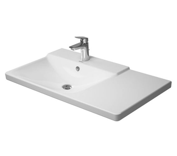 Duravit P3 Comforts 850mm Bowl On Left Asymmetric Basin - 233385