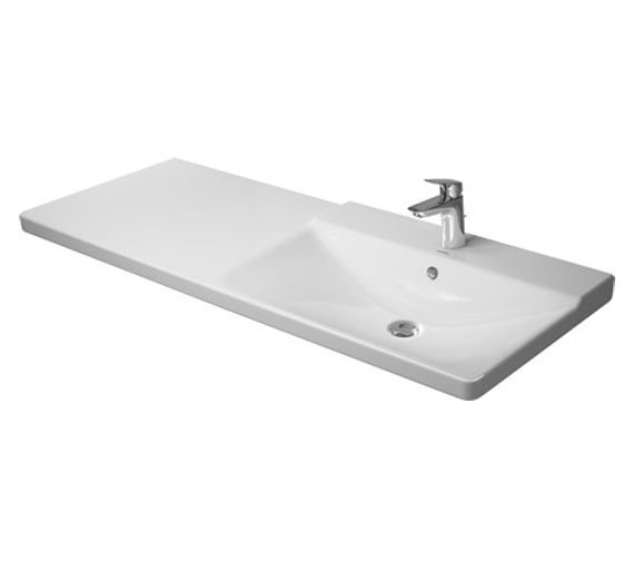 Duravit P3 Comforts 1250mm Bowl On Right Asymmetric Basin - 233412