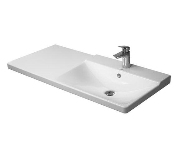 Duravit P3 Comforts 1050mm Bowl On Right Asymmetric Basin - 233410