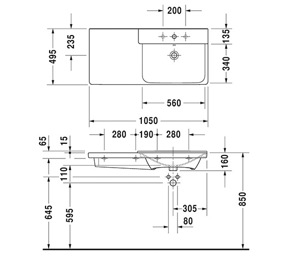Technical drawing QS-V6384 / 2334100000