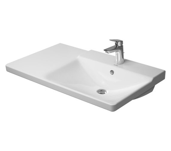 Duravit P3 Comforts 850mm Bowl On Right Asymmetric Basin - 233485