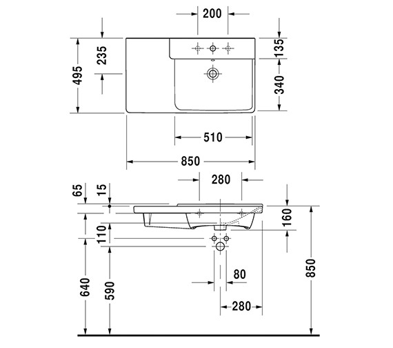 Technical drawing QS-V6385 / 2334850000
