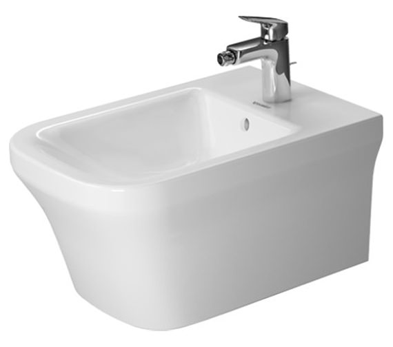 Duravit P3 Comforts 380 x 570mm Wall Mounted Bidet - 2268150000