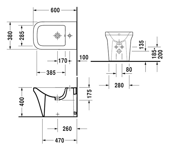 Technical drawing QS-V6390 / 2269100000