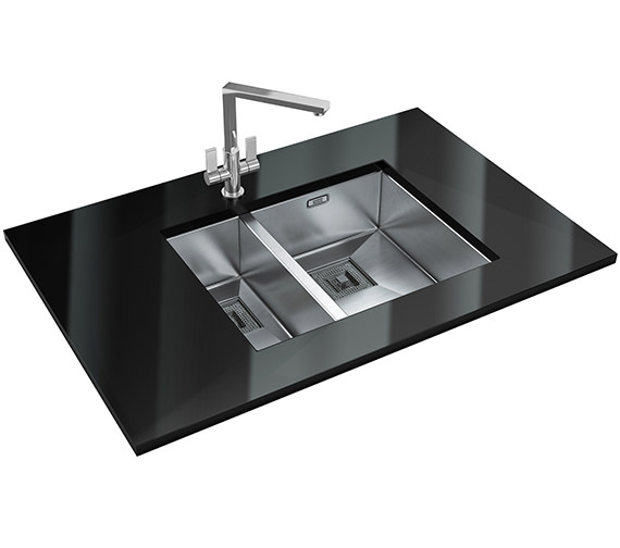 Franke Peak Designer Pack PKX 160 34-18 Stainless Steel Sink And Tap