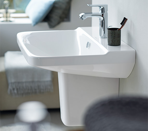 Additional image of Duravit P3 Comforts 600mm 1 Taphole Washbasin - 2331600000