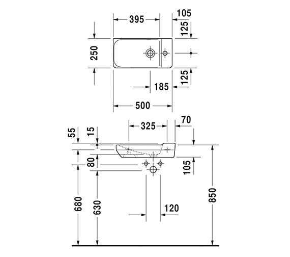 Technical drawing QS-V6374 / 0715500000