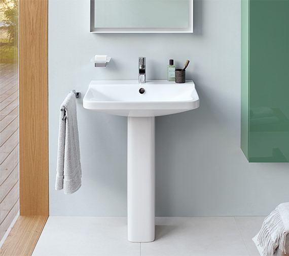 Alternate image of Duravit P3 Comforts 550mm 1 Taphole Washbasin - 600mm And 650mm Available