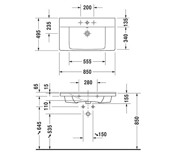 Technical drawing QS-V6378 / 2332850000