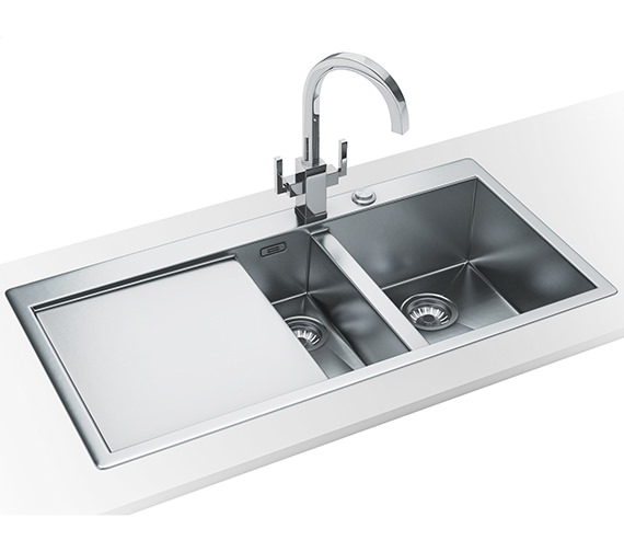 Franke Planar Slim-Top DP PPX 251 Stainless Steel Kitchen Sink And Tap